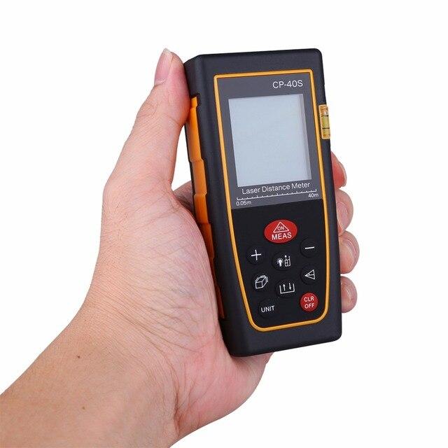 High Accuracy Handheld Digital IR Laser Distance Meter Bubble Level Measure Rangefinder
