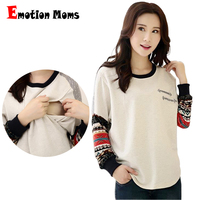 Emotion Moms New pregnancy Maternity clothes Cotton Maternity tops nursing Breastfeeding T-shirt For Pregnant Women Nursing Top