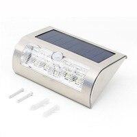 9 LED PIR Motion Sensor Solar Lamps Wireless Wall Light Outdoor Garden Lamp Waterproof IP44 Lights