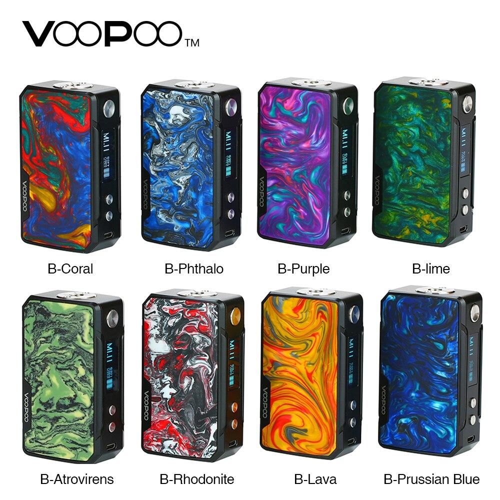 Original 117 W VOOPOO glisser Mini Mod 4400 mah batterie E Cigarette 510 fil Vape vaporisateur électronique boîte à cigarettes Mod VS glisser 2