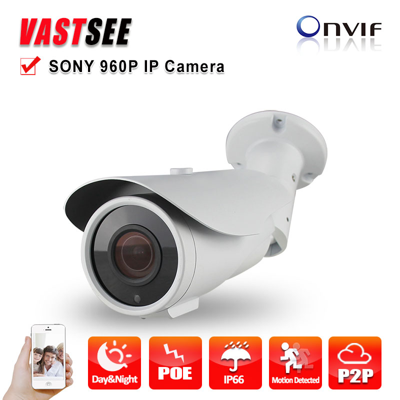 ФОТО POE camera IP onvif 1.3MP 960P sony imx225 outdoor waterproof 2.8-12mm 42IR P2P Night Vision video camera surveillance G40157031
