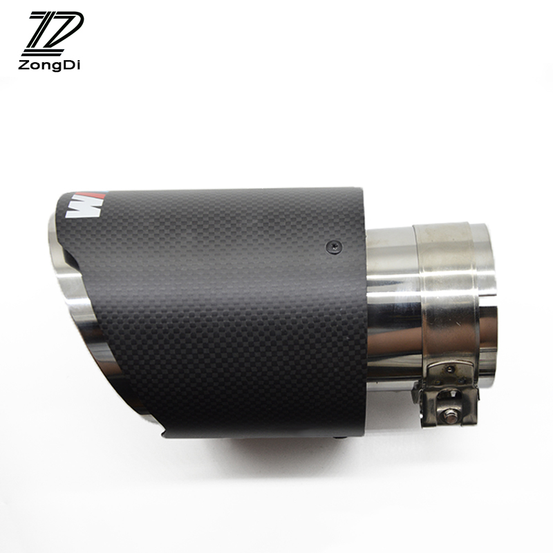 ZD 1pcs M SPORT For BMW F30 320i 316i M3 M4 M5 1 2 3 4 5 6 7 X Z Series Car Carbon Fiber Exhaust Tips Muffler Pipe Accessories