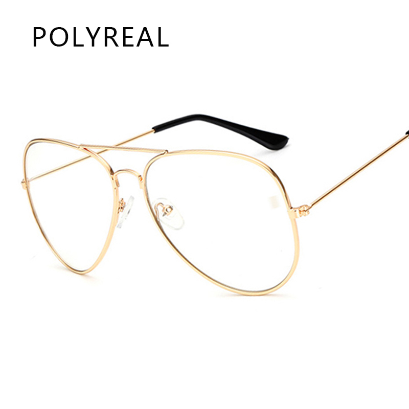 POLYREAL Classic Clear Aviation Sonnenbrille Frauen Markendesigner ...
