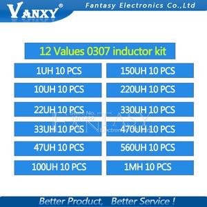 Image 5 - 12valuesX10pcs = 120pcs 0307 1/4W 0.25W משרן 1uH 1MH רכיב מדגם מגוון קיט חדש