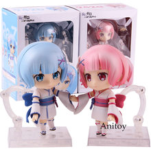 Nendoroid 942 Re: a Vida em um Mundo Diferente de Zero Re Zero Ram Infância Ver Rem. PVC Action Figure Collectible Modelo Toy(China)