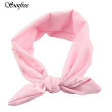 Sunfree Women Elastic Bow Hairband Turban Knotted Rabbit Hair Band Headban Elastic Hair Accessories Jewelry Oct 24n