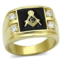 Special Offer Men Gold Stainless Steel Ring White Color Crystal Fashion Jewelry Europe Style Full size Environmental Material