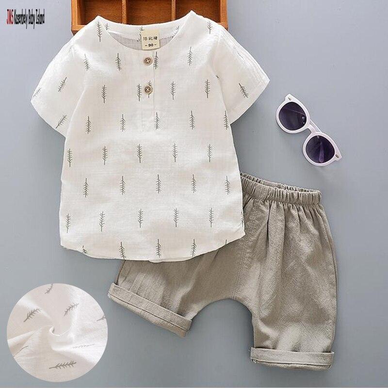 0-4T New children Summer brand Boys baby clothing set kids sports suit boys T shirt + pants gogging sweatshirt casual clothes