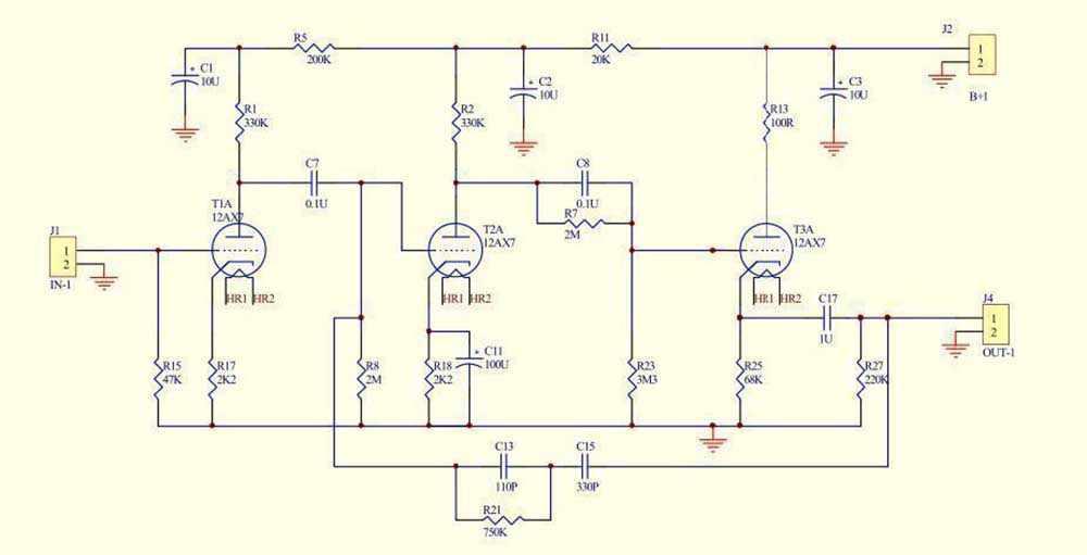 E834 HIFI RIAA MM Tube phono amplifier PCB Stereo turntable preamplifier  PCB Base on EAR834 Circuit
