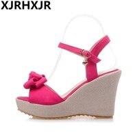 Plus Size 33 43 Slippers Women Sandals High Heels Wedges Platform Sandals 10cm High Heel Sandals Open Toe Wedges Women Shoes