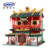 XingBao 01004 City Chinese Street Blocks Building Series Ancient Chinese Architecture Designer Toys for Children Christmas Gifts
