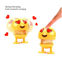 Shaking Head Toys car decoration expression creative cute doll shaking head decoration gift jewelry spring shaking head doll premium new funny spring man emoji emotion face expression figure shaking head doll for children toys gifts car decor supplies