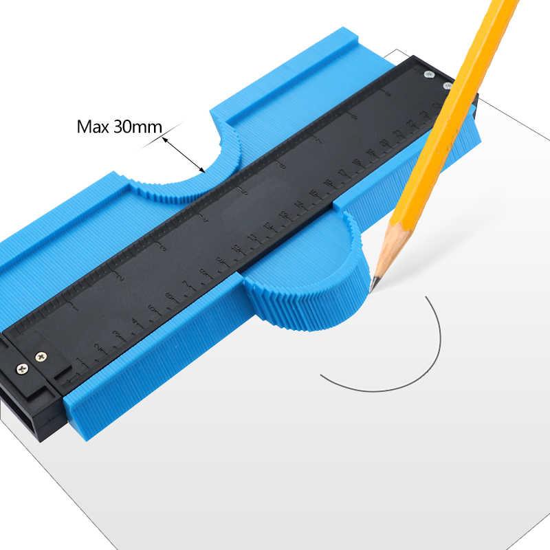 ZCZUOX Contorno de Perfil de 5 Pulgadas Calibrador de Azulejos Azulejos Laminados Conformaci/ón de Bordes Regla de Medida de Madera Duplicador de Medidor de Contorno de ABS