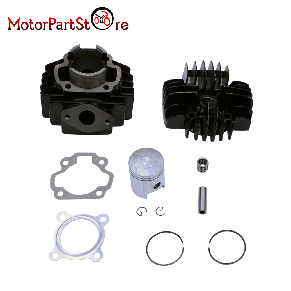 PW50 QT50 Cylinder Head Piston Gasket Kit 40mm for YAMAHA PW50 1981-2009 QT50 1979-1987 * 38mm cylinder barrel piston kit