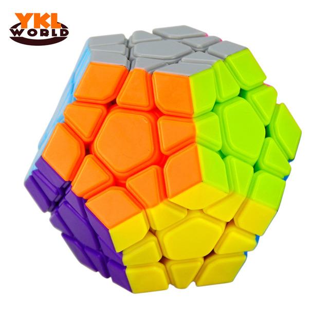 Nueva Llegada Profesional Yongjun Cubo Mágico Megaminx Pegatina Smooth Velocidad cubo Mágico Puzzle Cube Juguetes Educativos para Niños-45