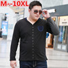 10XL 8XL 6XL 5XL 2017 New Fashion Brand Men Clothes Solid Color Long Sleeve Slim Fit