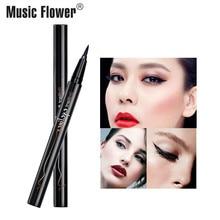 Music Flower Super Fine Waterproof Liquid Eyeliner Pencil 24H Long-lasting Tearproof Super Black Eyeliner Quick-Dry Brand Makeup цена в Москве и Питере