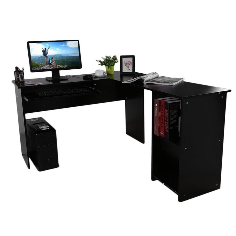 L-Shape Stable Computer Combination Table Desk PC Table Home Study Office Table Work Desk Workstation Corner Desk 140*120*74cm