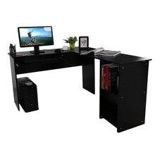 L-Shape Stable Computer Combination Table Desk PC Table Home Study Office Table Work Desk Workstation Corner Desk 140*120*74cm