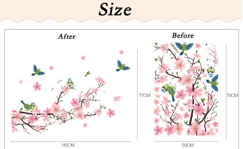 HTB1up8 JVXXXXX3XVXXq6xXFXXXQ - DIY Flower Removable PVC Wall Sticker For Living room