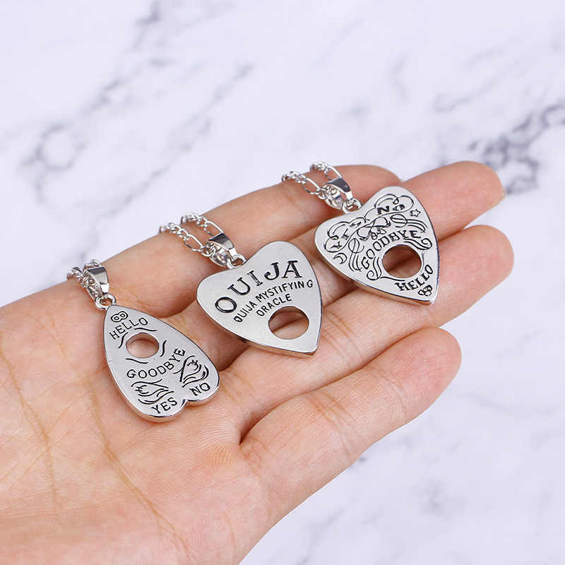 Fashion Vintage Gothic Ouija Pendant necklace for female/male Divination Necklaces for women/men Chains Jewelry Gift accessories