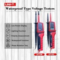 UNI T UT15B/C LCD Display Waterproof Multi function Voltage Testers voltmeter voltimetro voltage meter electrician Pen Meters