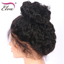 Water Wave Lace Front Human Hair Wigs Pre Plucked Natural Hairline With Baby Hair Bleached Knots Elva Remy Hair Lace Front Wig