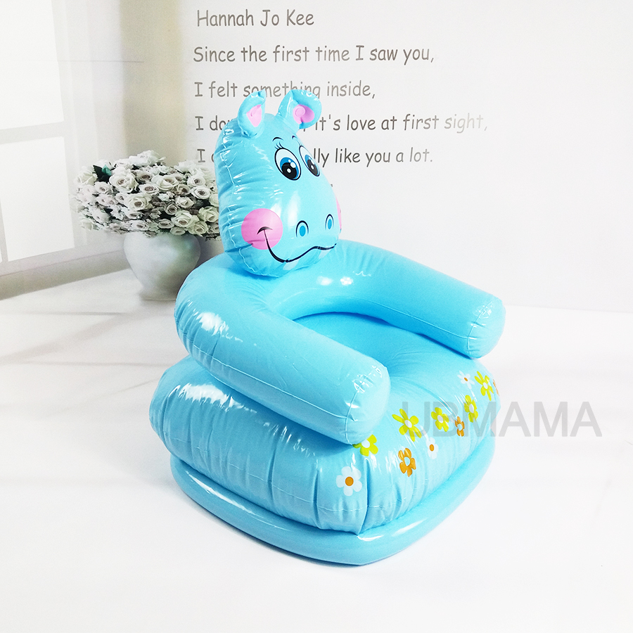 For Kid 3-8 Years Old Cute Portable Cartoon Animal Style Children Chairs Lovely Inflatable Sofa Kids' PVC Chairs Baby Seats A010