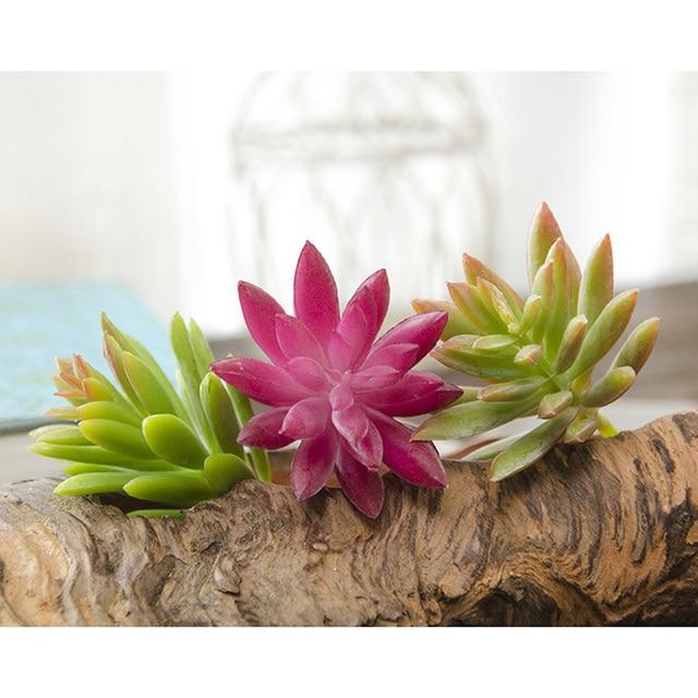 Mini Artificial Succulent Plants Realistic Lotus Flower Arrangement