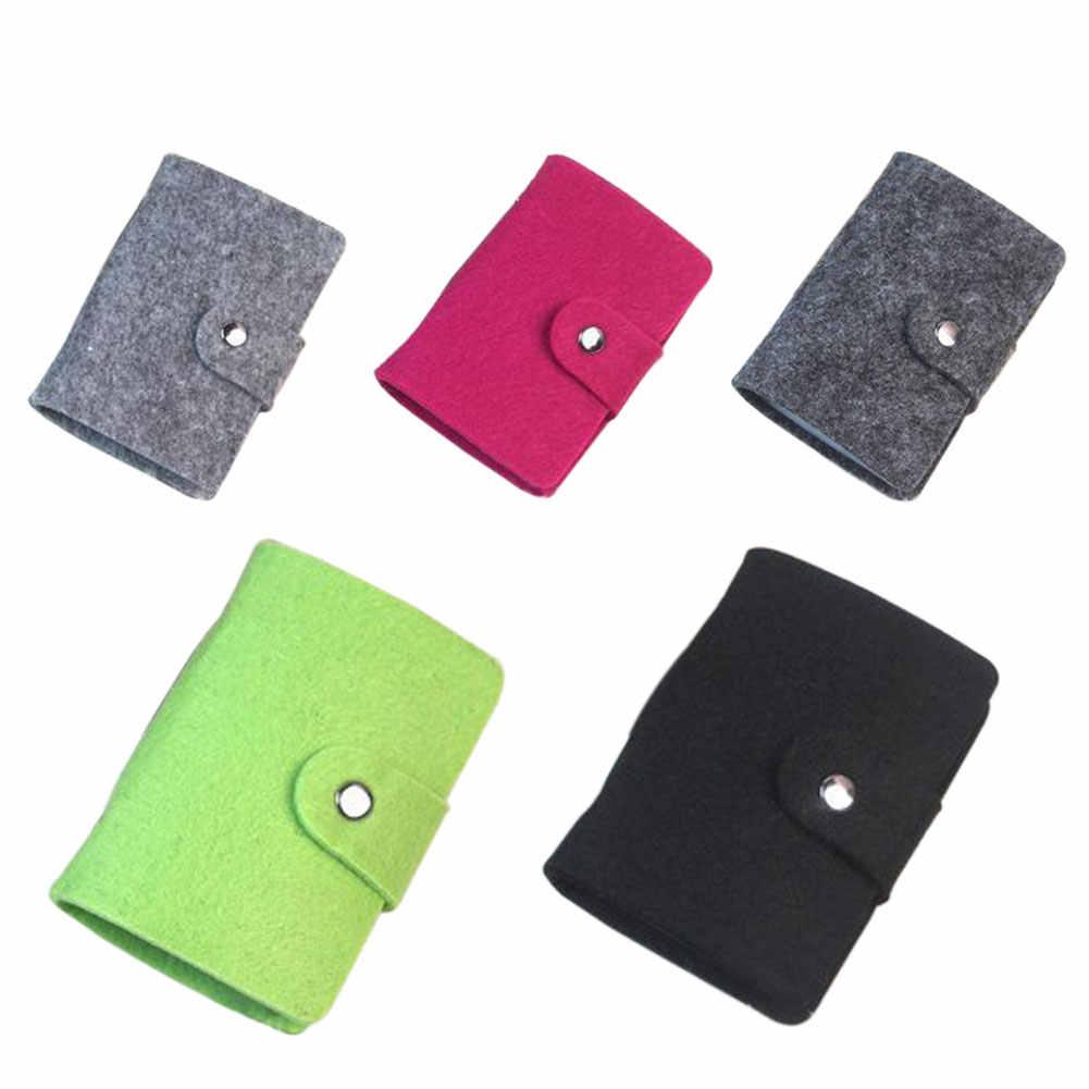 Neue Mode Retro Frauen Pouch ID Kreditkarte Brieftasche Bargeld Halter Organizer Fall Box Tasche AIC88