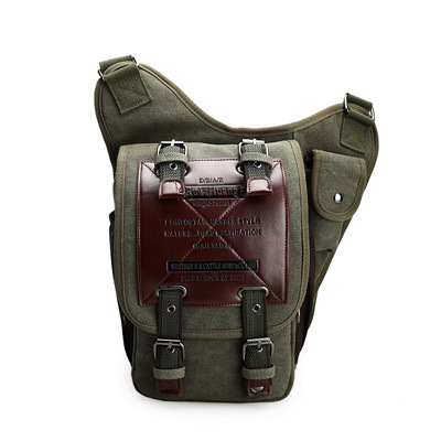 Купить с кэшбэком Hot Sale 2018 New Men's Canvas Drop Leg Bag Women Waist Fanny Pack Belt Hip Bum Military Travel Motorcycle Multi-purpose Bags