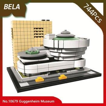 Bela 10679 Architecture series 744pcs The Guggenheim Museum Model Building Blocks Compatible 21035 Classic House Children Toys 21035 lego