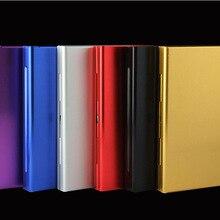 Aluminum Alloy Thin Cigarette Case 20pcs Tobacco Holder Pock