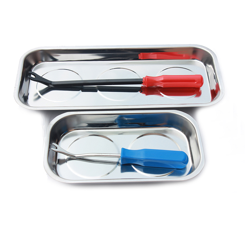 Stainless Steel Magnetic Parts Tray Plate Holder Organizer Stainless Steel Magnetic Parts Tray Plate Holder Organizer