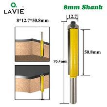 1 шт. 8 мм хвостовик 2 «для промывания и подравнивания фрезы с подшипником для дерева шаблон бит карбида вольфрама фрезерный резак для дерева 02017