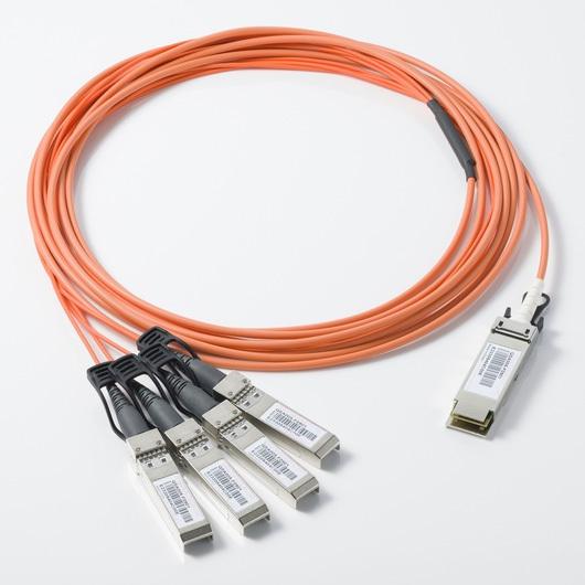 10g QSFP a 4 SFP + Cabos Ópticos Ativo, ativo 10g high-speed cabo de fibra Óptica