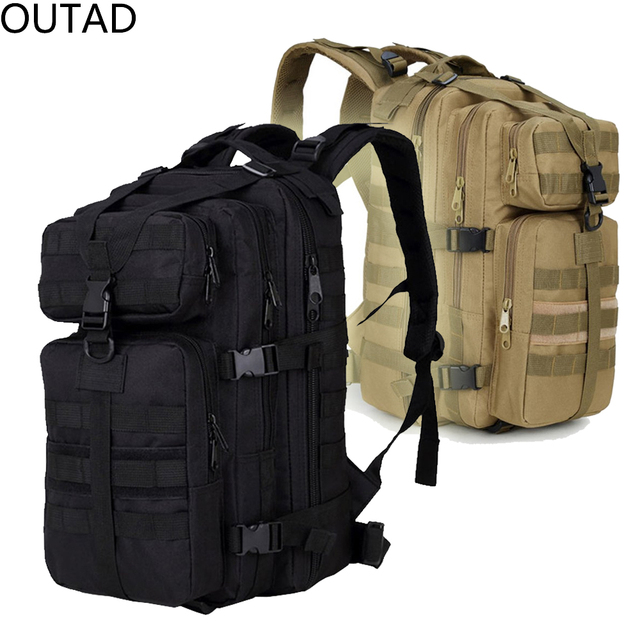 35L Unisex Outdoor Travel Military Tactical Mountaineering Bag Waterproof  Nylon Trekking Rucksack Sport Camping Backpack 6f7ce807b0ded