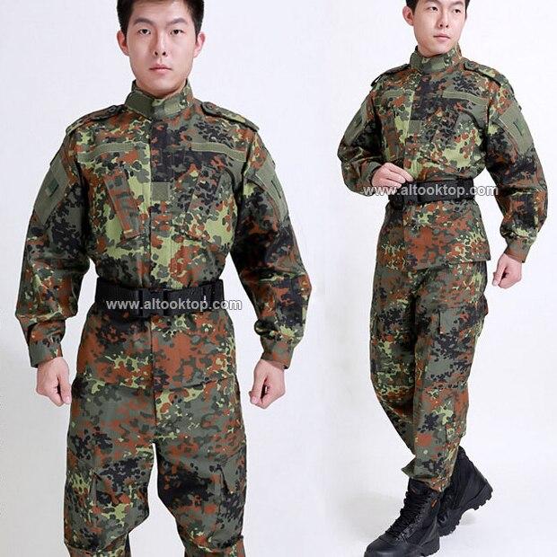 a51c1a8b Allemande de la seconde guerre mondiale uniforme militaire américain  costume de camouflage marine pantalon de combat + veste tactique des forces  spéciales ...