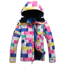 2016 Free shipping women Ski Suit Waterproof Windproof Ski Jacket Warm Ski Jacket Thicken Clothes Pants Set Solid Snowboard