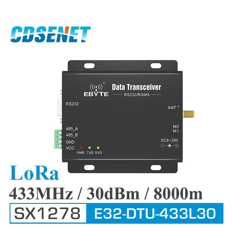 E32-DTU-433L30 RS485 RS232 433MHz LoRa SX1278 Wireless Transmitter Long Range Uhf 1W SX1276 433 MHz Transceiver Rf Module
