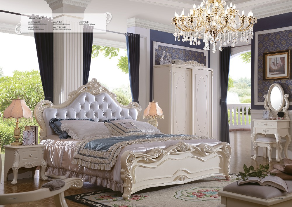 Muebles Para Casa Sale King Antique Folding Bed 2016 New Princess Soft Bed Continental Carved French Height Box Leather Prince