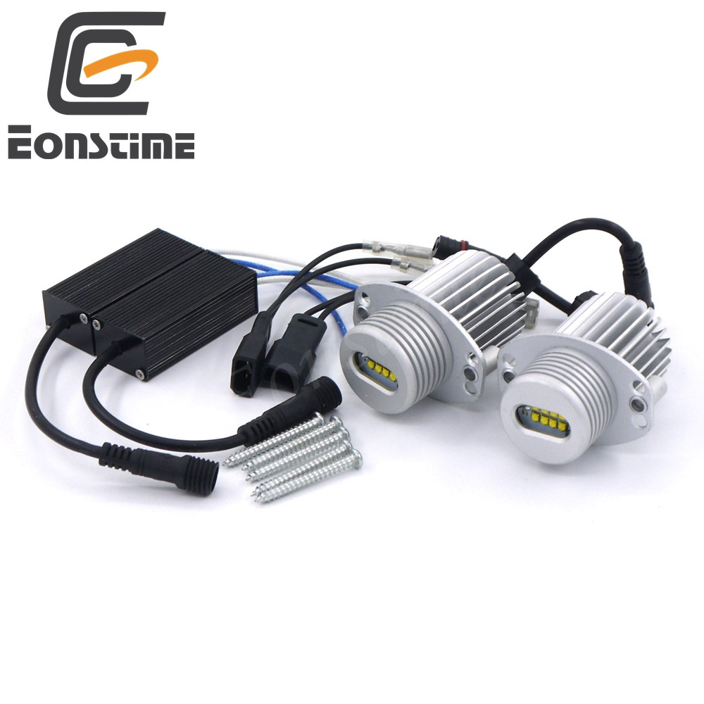 Eonstime 2pcs 40W 8LED Marker Angel Eyes XBD LED Chips 7000K XENON for BMW 3Series E90 E91 325i 325xi 328i 328xi 330i 335i 335xi