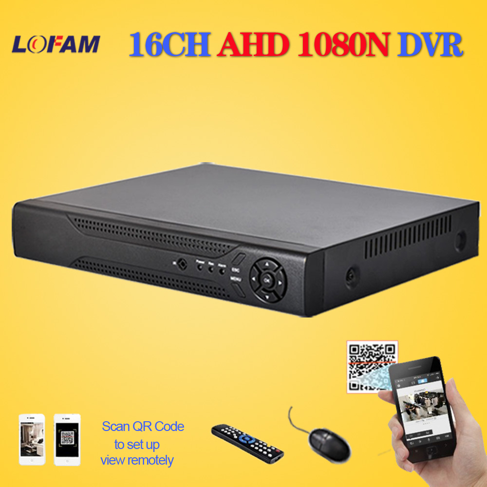 LOFAM home CCTV DVR 16CH Digital Video Recorder 16 Channel AHD 1080N WIFI Hybrid security surveillance DVR NVR 16ch 1080P HDMI-in Surveillance Video Recorder from Security & Protection    1