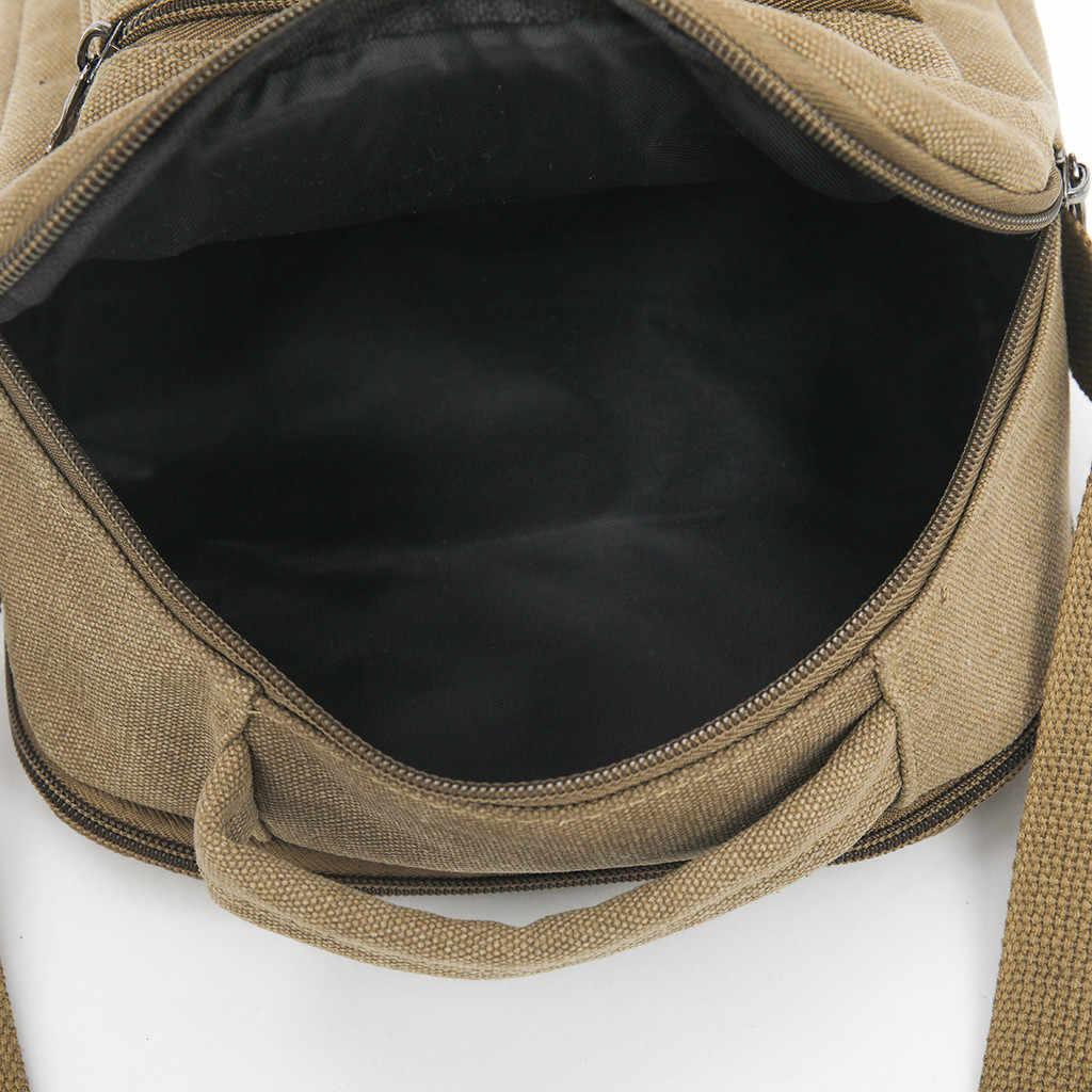 メンズ BagFashion キャンバス無地カジュアルビジネスショルダーバッグとメッセンジャーバッグ bolso やつ sacoche オム