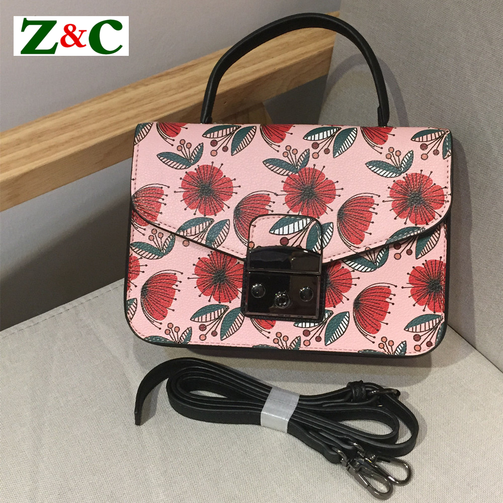 Lolita Style Women Flower Print Bag Luxury Designer Lady Cross Body Shoulder Bag Famous Brand Graffiti Floral Small Flap Handbag юбка other flower lolita b113