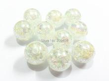 (먼저 크기 선택) 12mm/16mm/20mm 화이트 AB 크랙 비즈, Chunky Jewelry Beads