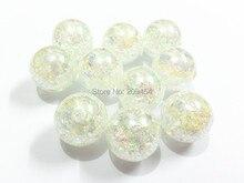 (Choisissez la taille en premier) 12mm/16mm/20mm blanc AB perles de fissure, perles de bijoux épais