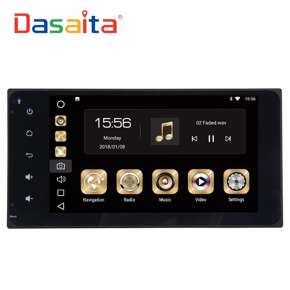 Dasaita 7 Android 8 0 Car GPS Radio Player For Toyota Corolla Camry Prado RAV4 Hilux