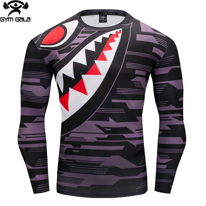 Hot Sale Fitness MMA Compression Shirt Men Anime Bodybuilding Long Sleeve Crossfit 3D T Shirt Tops Tees