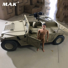 1/6 Scene accessories Diecast Sand Color Painting Hummer Military Truck Vehicle Model w gun MK19 F 12 Action Figure doll Toys